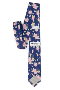Mooney - Navy Floral Tie