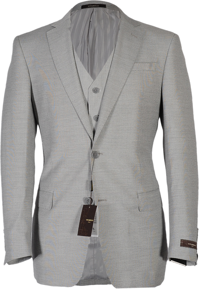 Suit-Sharkskin Grey