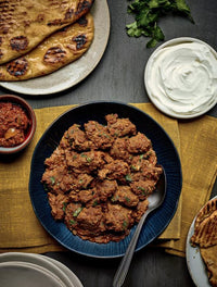 Lamb Bhuna with Garlic Naan
