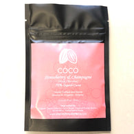 CÓCÓ Chocolate Bar - 70% Dark with Strawberry & Champagne