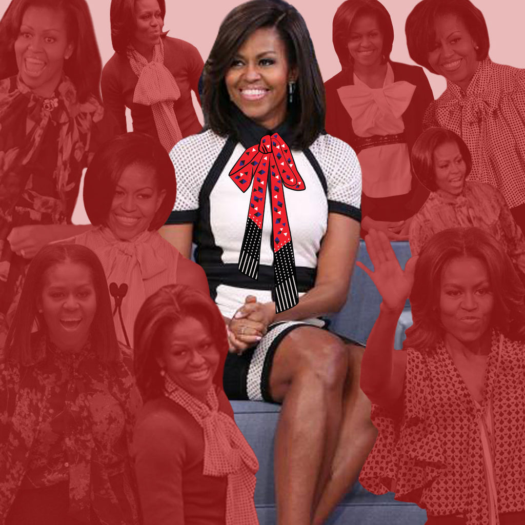 We Heart Michelle Obama and Her Neckties Too! (Photo Gallery)