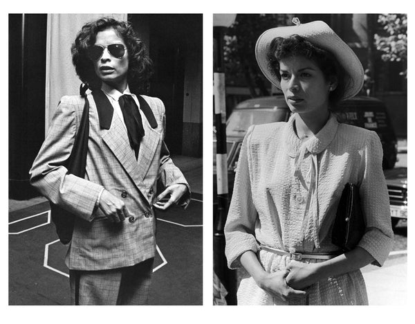 Bianca-Jagger-stylee-icon-neckties-suits