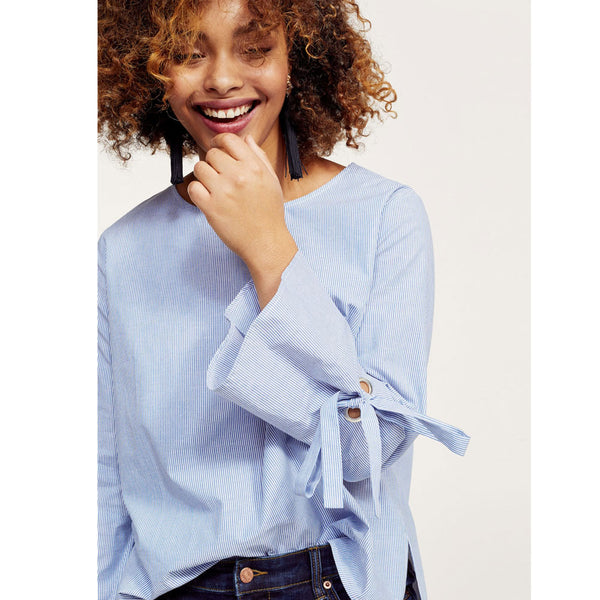 mango-bow-sleeve-blouse