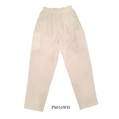 WHITE Scrub Pants PS016