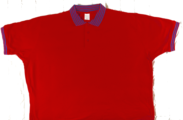 Red Polo Shirt 60/40 Blend