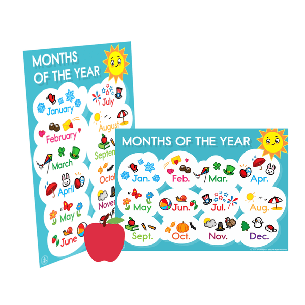 Months Of The Year ], - The Hamptons Baby Co.