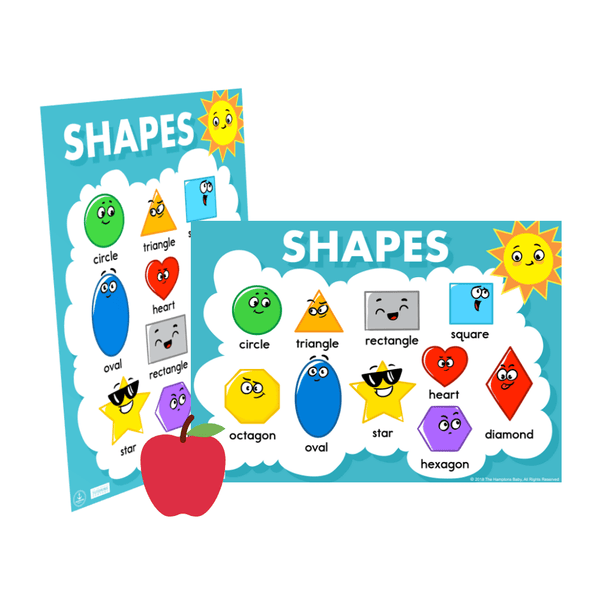Shapes Chart ], - The Hamptons Baby Co.