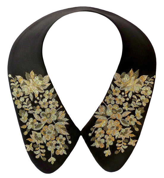 Collar neckpiece with exquisitely delicate hand embroidery