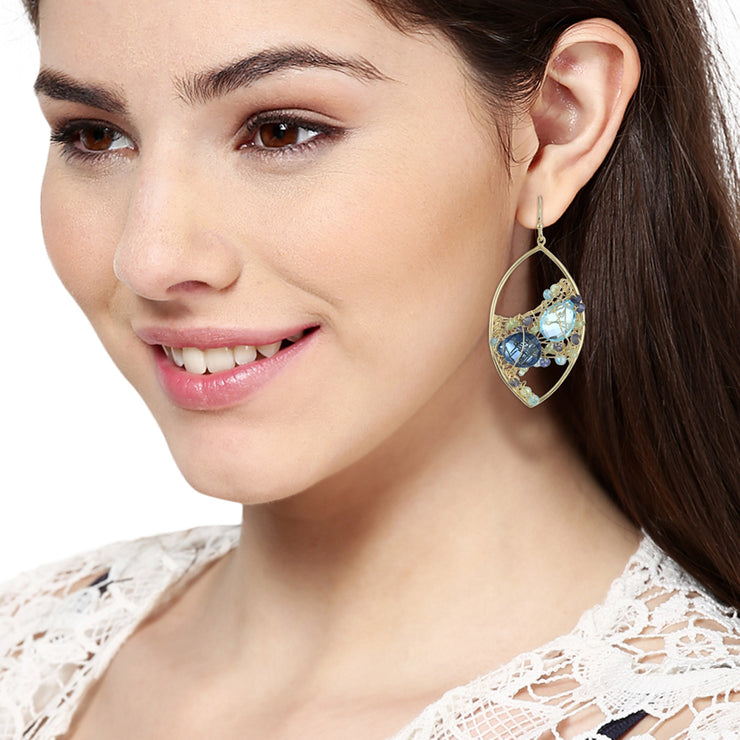 Spring Garden Earrings - Blue Topaz