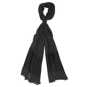 Black sequin scarf
