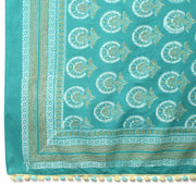 Teal handblocked pareo