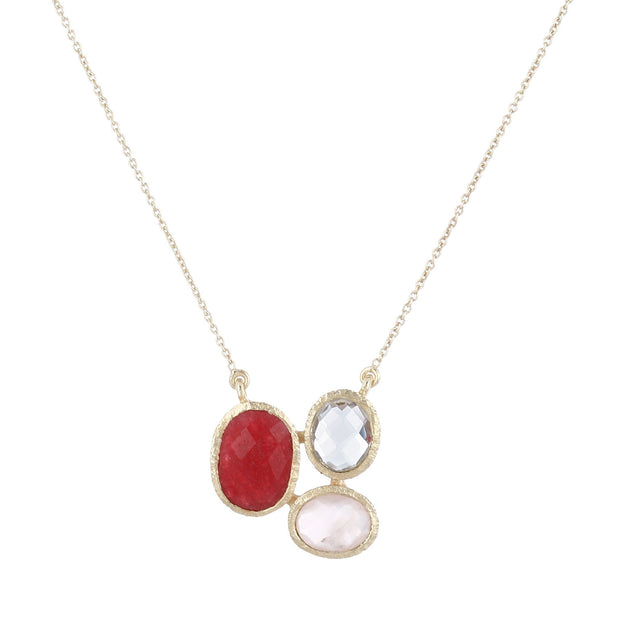Ria necklace - red jade