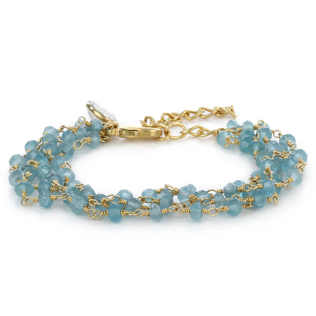 Beaded bracelet - aquamarine
