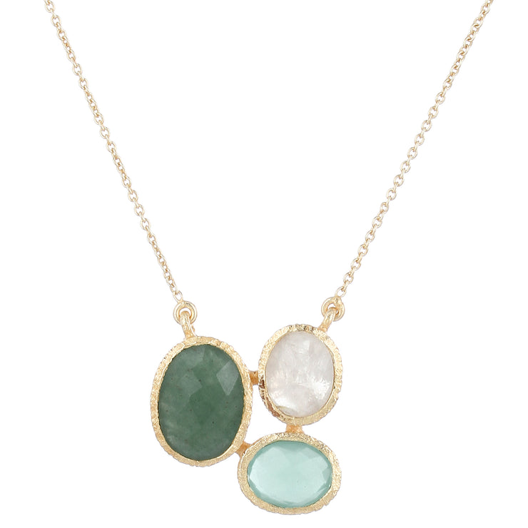 Ria necklace - green aventurine