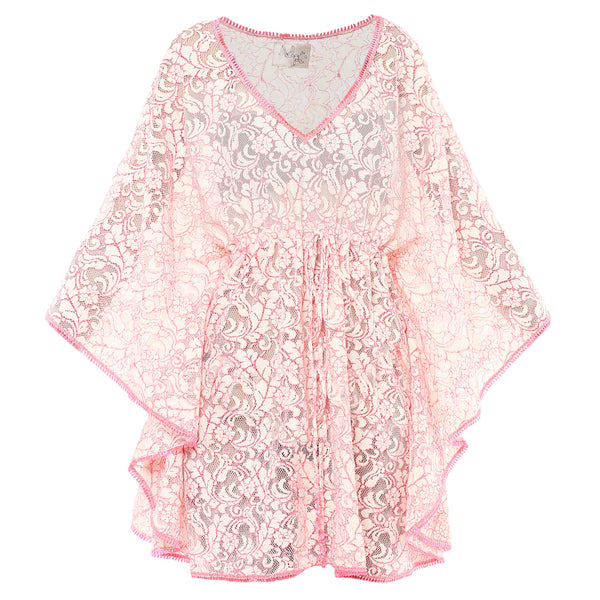 Flora short lace beachdress