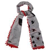 Birds in the sky - cloud grey scarf
