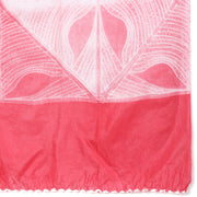 Rouge pink bandhini stole