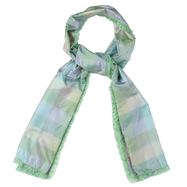 Chequered charm stole - mint green