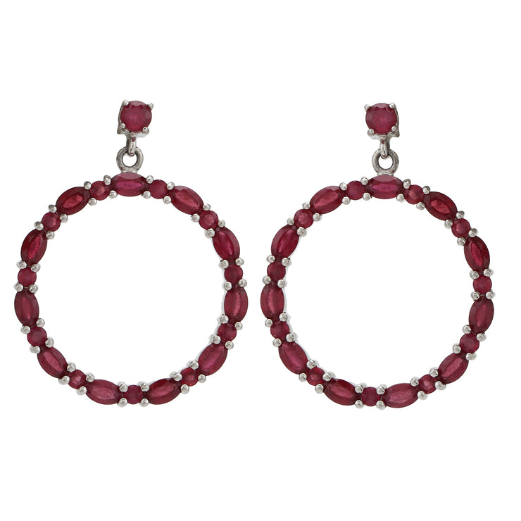 Sabina Hoop Earrings in Ruby