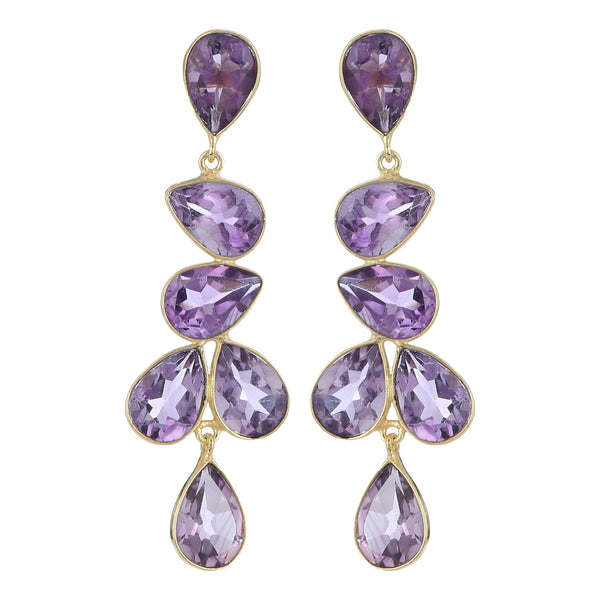 Naya Chandelier earrings - Purple Amethyst