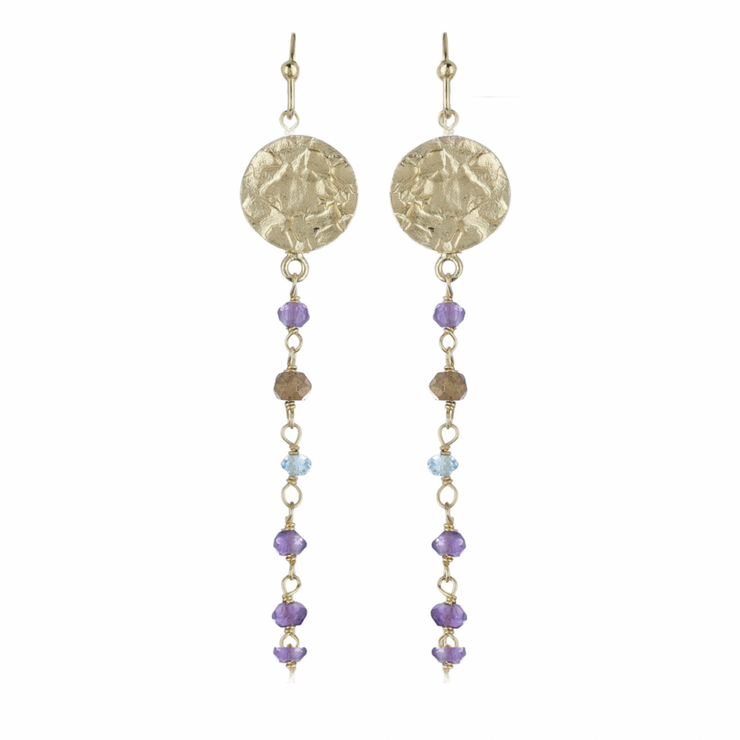 Lika Long Coin Earrings