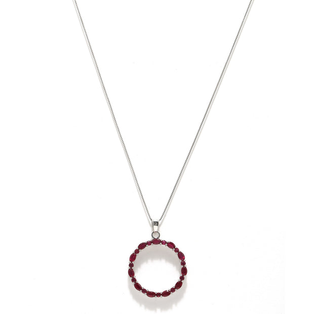 Sabina pendant necklace - Ruby