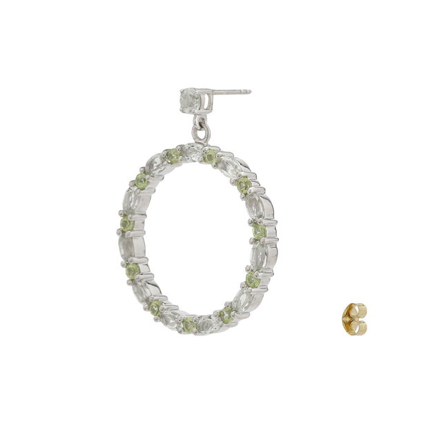 Sabina Hoop Earrings in Green Peridot