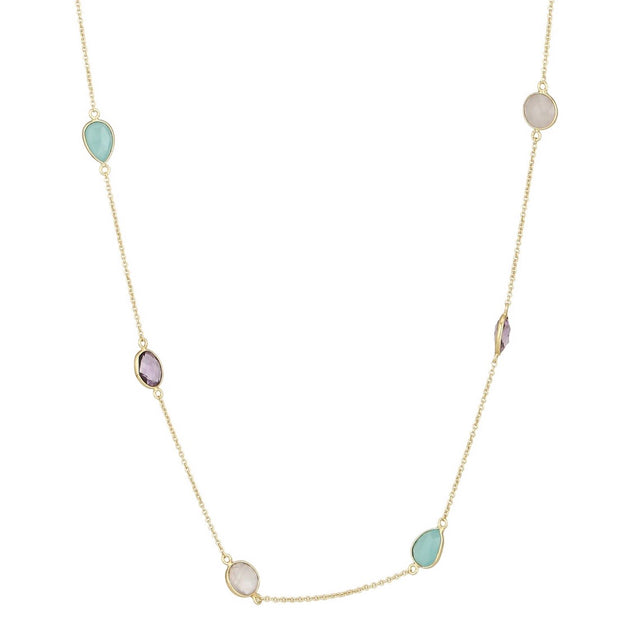 Liya multistone long necklace