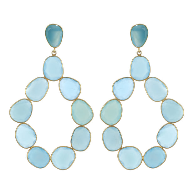 Nila mega turquoise hoop earrings