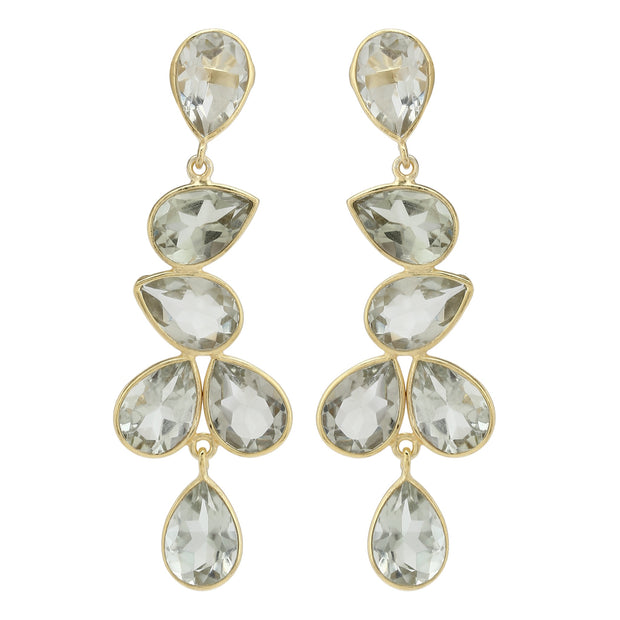 Naya Chandelier earrings - Lemon Quartz