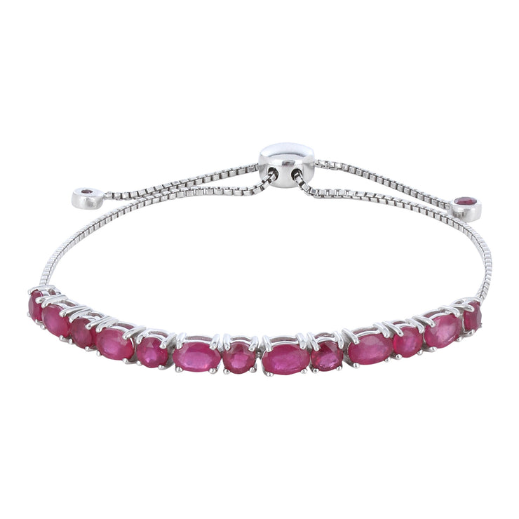 Sabina Ruby wrap bracelet with charms
