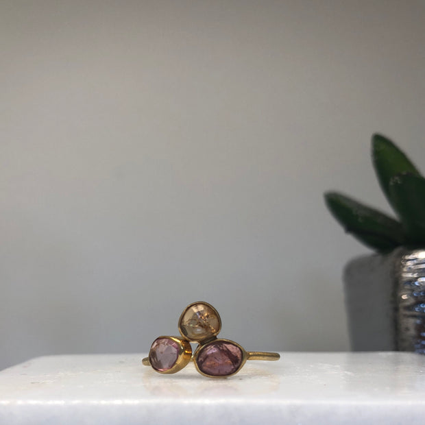 Adjustable tourmaline ring