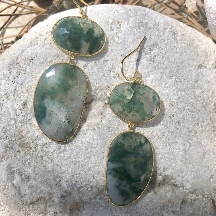 Statement Earrings - Green