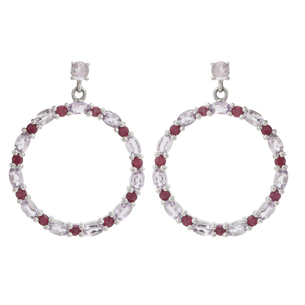 Sabina Hoop Earrings in Amethyst