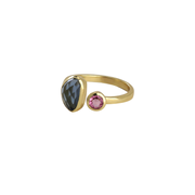 Adjustable gemstone ring