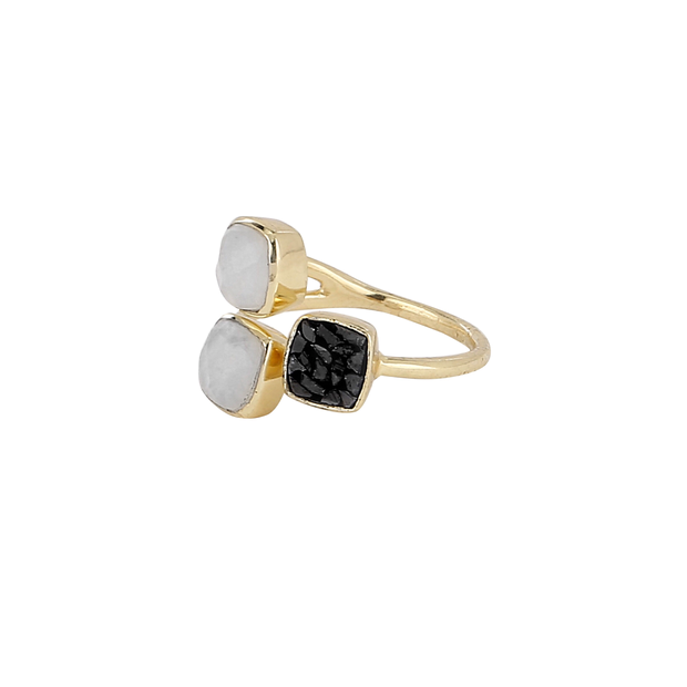 Delicate multi-stone ring