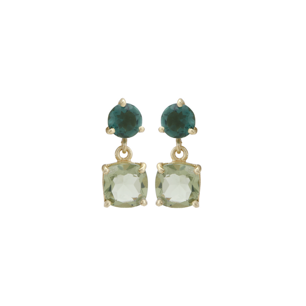 Rangoli Drop Earrings - Green