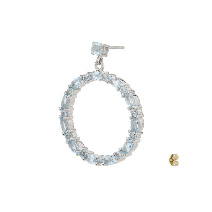 Sabina Hoop Earrings in Blue Topaz