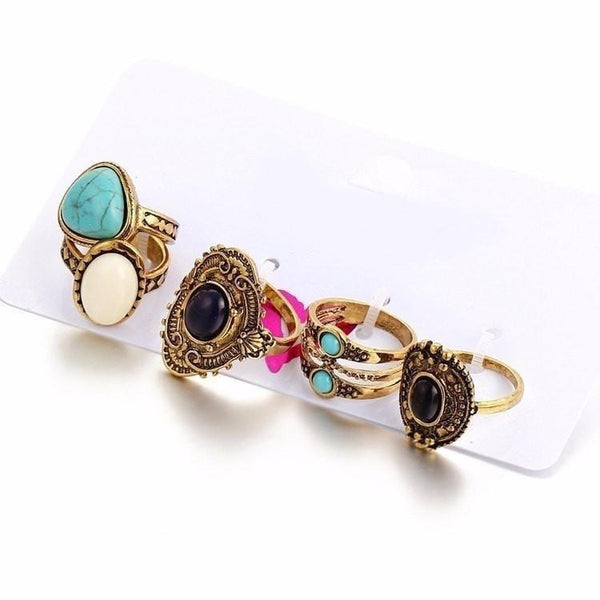 Antique Bohemian Midi Rings Bundle