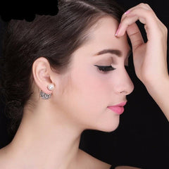 Austrian Crystal Ball Earrings - 18k Gold/Silver Plated