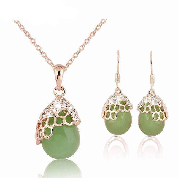 Dinosaur Egg Jewelry Set