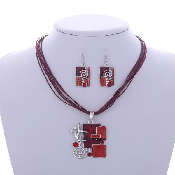 Egyptian Geometric Jewelry Set