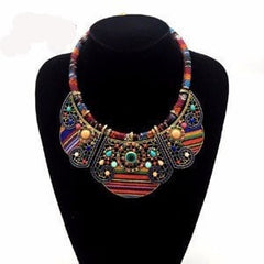 Ethnic Multi-color Choker Necklace