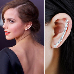 Trendy Simulated-Pearl Ear Cuff