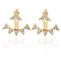 V / Triangle Shape Sunshine Earrings