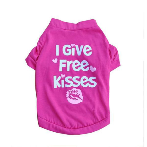 """I Give Free Kisses"" Doggie T-Shirt - Purrrfect For Pets"