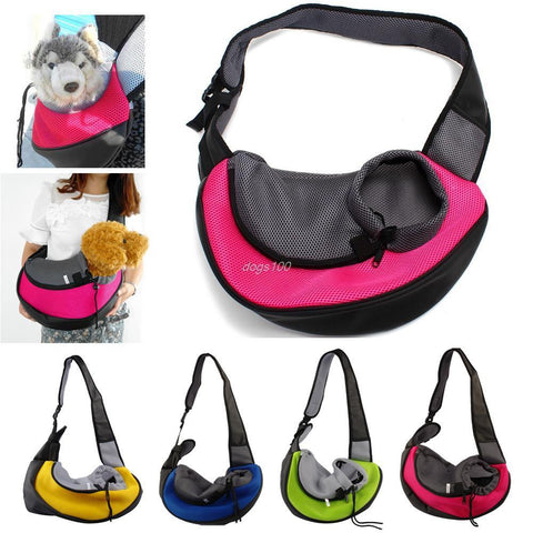 Breathable Pet Carrier Travel Tote Shoulder Bag - Purrrfect For Pets