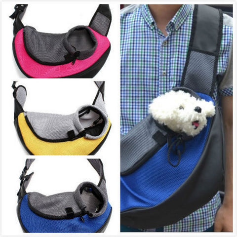 Breathable Pet Carrier Mesh Shoulder Bag