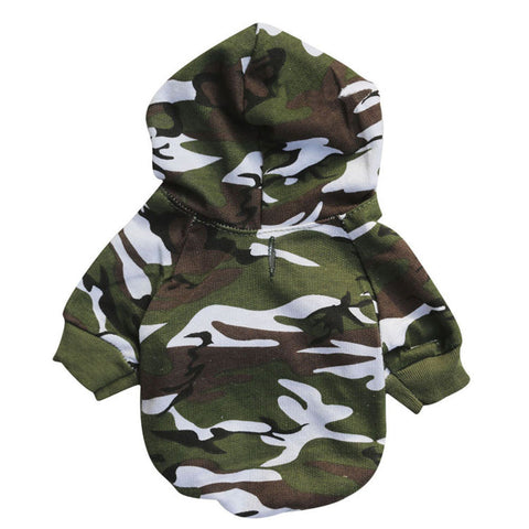 Camouflage Sweatshirts with Hoodie for Small Pets