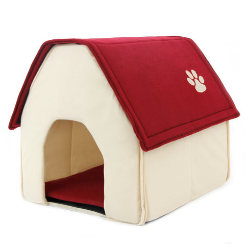 Dog House For Medium and Small Pets Comes with a Green or Red Roof Purrrfect for Pets